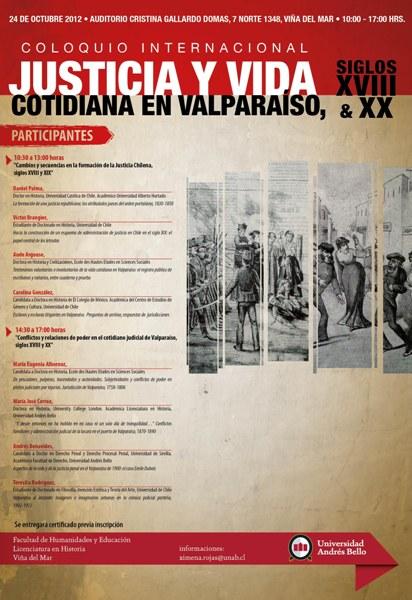 Coloquio Internacional Justicia y Vida Cotidiana en Valparaíso