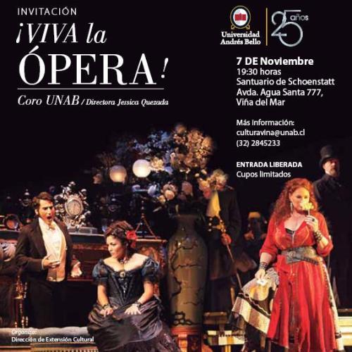Concierto Viva la Opera Vina del Mar UNAB