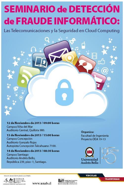 Seminario Detección Fraude Informatico UNAB Chile 2013 afiche