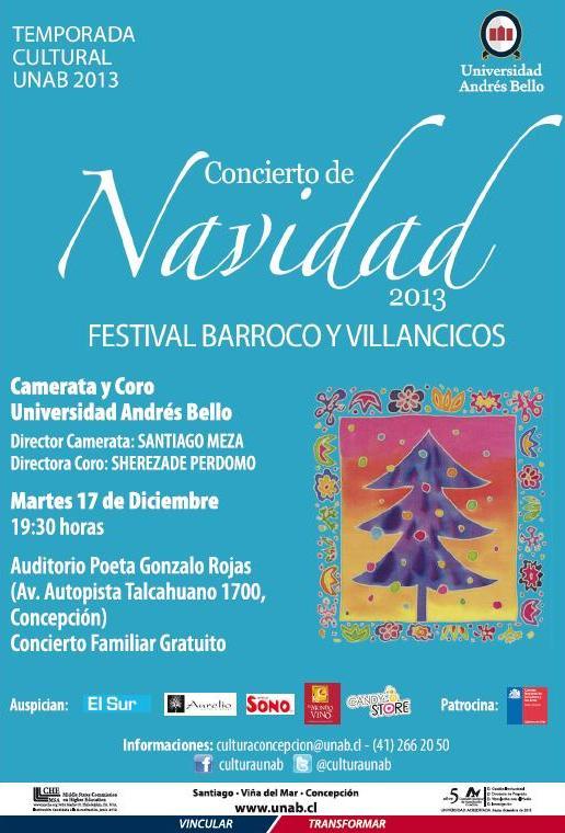 Concierto Navidad Concepcion 2013 UNAB