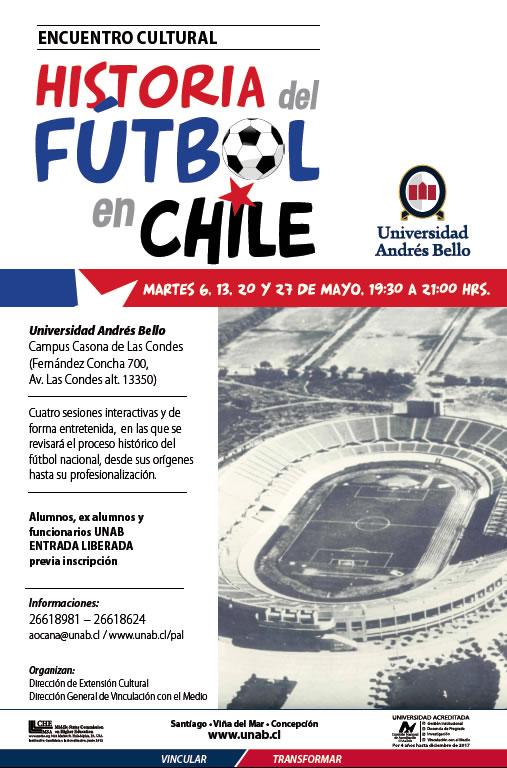 Afiche Encuentro Futbol Chile Ciclo Santiago Cultura UNAB