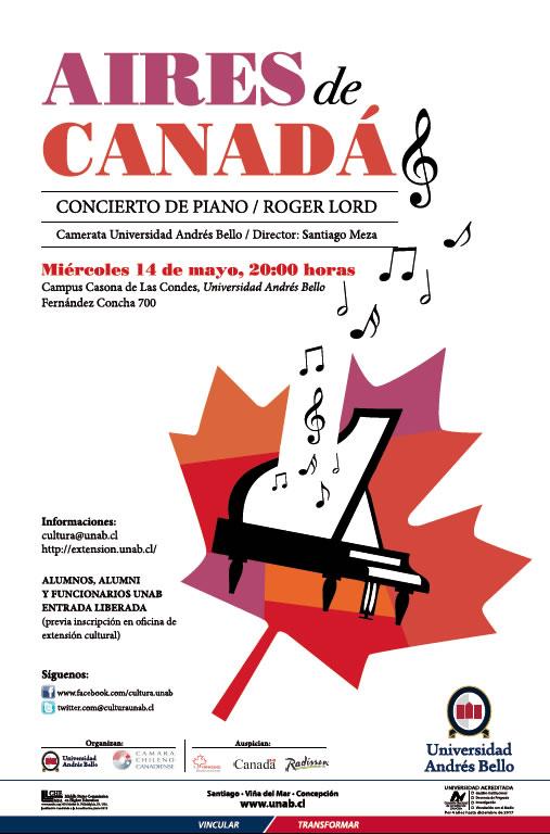 Concierto Roger Lord Canada Piano Chile UNAB