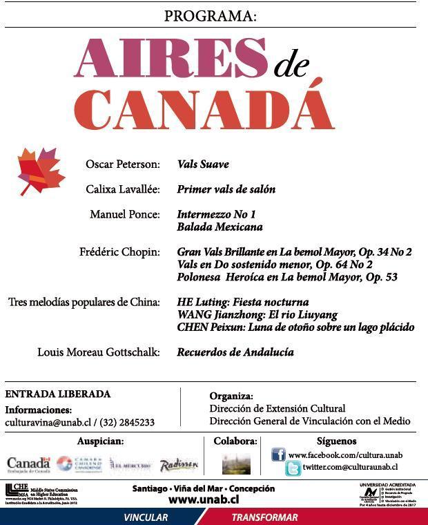 Aires de Canadá - Roger Lord - UNAB- Viña del Mar - Concierto - Chile