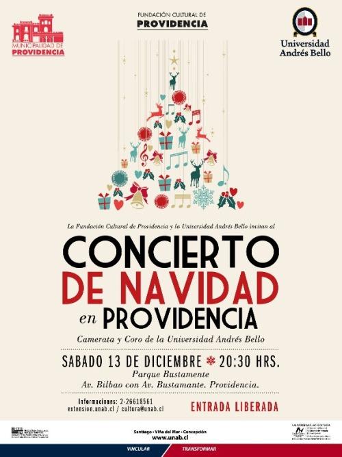 afiche concierto de navidad providencia unab