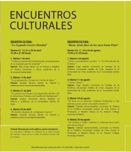 encuentros culturales