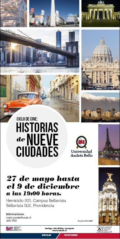 Afiche Historias de Nueve Ciudades