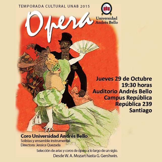 Afiche OPERA Coro UNAB Republica