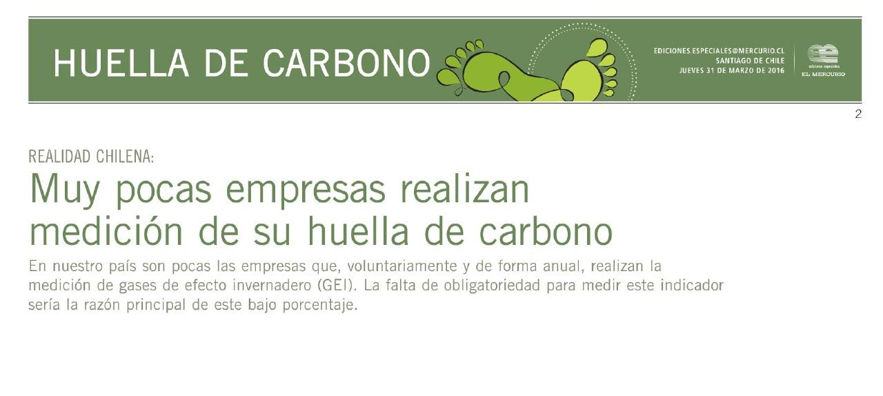 medicion huella de carbono El Mercurio